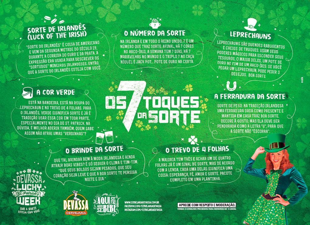 ec85287122b A Cervejaria Devassa preparou uma agenda especial para a celebração do Saint  Patrick s Day. Nos dias 17